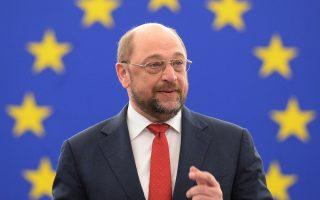 Ο πρόεδρος του Ευρωκοινοβουλίου Μάρτιν Σουλτς, σε εικόνα αρχείου από το 2014.