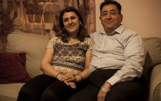 Η Μαρία Αντύπα και ο Σύρος σύζυγός της, Αντουάν Κάσο, έφτασαν στην Αθήνα από το Χαλέπι το 2012.