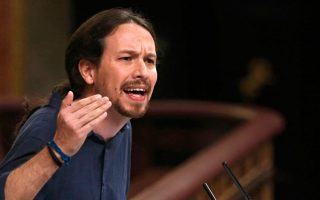 Ο επικεφαλής του Podemos, Πάμπλο Ιγκλέσιας.