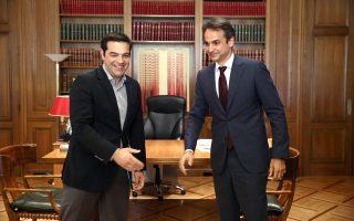 Ο πρόεδρος της Νέας Δημοκρατίας Κυρ. Μητσοτάκης κατέστησε σαφές στον κ. Αλ. Τσίπρα ότι δεν πρόκειται να συναινέσει στην αλλαγή του εκλογικού νόμου από τις αμέσως επόμενες εκλογές.