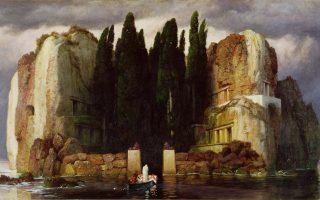 Ο περίφημος πίνακας «Η νήσος των νεκρών» (Die Toteninsel) που ο Ελβετός ζωγράφος Αρνολντ Μπέκλιν (Arnold Boecklin, 1827-1901) φιλοτέχνησε σε τουλάχιστον πέντε διαφορετικές εκδοχές την περίοδο 1880-1886.