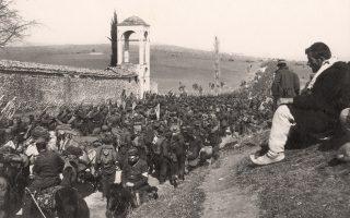 Ο Ελληνικός Στρατός προελαύνει κατά τους Βαλκανικούς Πολέμους. Από το φωτογραφικό αρχείο του Μουσείου Μπενάκη.