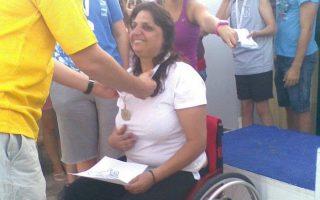 Η θητεία της Μαρίας Φεγγαρίδου στον αθλητισμό στέφθηκε με μεγάλη επιτυχία, καθώς έχει στο ενεργητικό της τρία μετάλλια στην κολύμβηση.