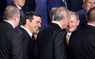 Χαρούμενος ο πρωθυπουργός στη Σύνοδο του ΝΑΤΟ...
