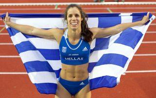 Η Κατερίνα Στεφανίδη εξασφάλισε το χρυσό μετάλλιο στο επί κοντώ με άλμα στα 4.70 μ. και στη συνέχεια τοποθέτησε τον πήχυ στα 4.81, παίρνοντας το ευρωπαϊκό ρεκόρ από τη Γελένα Ισινμπάγεβα.
