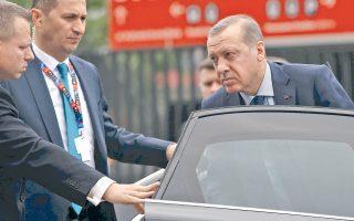 Φωτιές άναψε η δήλωση του Ταγίπ Ερντογάν για τους Σύρους πρόσφυγες. Στη φωτογραφία, ο Τούρκος πρόεδρος προσέρχεται στην πρόσφατη σύνοδο κορυφής του ΝΑΤΟ, στη Βαρσοβία.