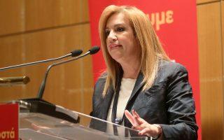 Για «δικομματικό παιχνίδι» κατηγορεί η κ. Φώφη Γεννηματά τον ΣΥΡΙΖΑ και τη Νέα Δημοκρατία.