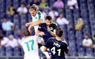 Ο Παναθηναϊκός έδειξε να προσαρμόζεται γρήγορα στις συνθήκες του αγώνα και, παρά τις απουσίες του, απέδωσε αρκετά καλό ποδόσφαιρο.