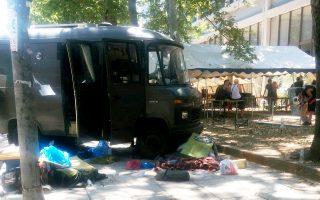 Σκηνές έχουν στήσει έξω από τη Νομική του ΑΠΘ ομάδες από την Ελλάδα και το εξωτερικό. Το No Border Camp Thessaloniki 2016 περιλαμβάνει εκδηλώσεις στην Πανεπιστημιούπολη, πορείες στο κέντρο της Θεσσαλονίκης και σε κέντρα φιλοξενίας μεταναστών.