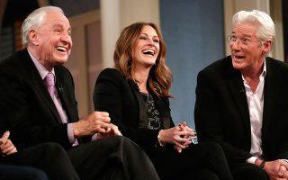 Ο Γκάρι Μάρσαλ, η Τζούλια Ρόμπερτς και ο Ρίτσαρντ Γκιρ σε πρόσφατο reunion της παρέας του «Pretty Woman».