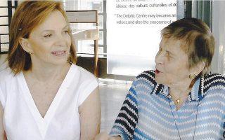 Η κυρία Ελένη Αρβελέρ, Πρόεδρος του Δ.Σ. του Ευρωπαϊκού Πολιτιστικού Κέντρου Δελφών, παρέστη και μίλησε στην εκδήλωση «για τον Πολιτισμό και το Περιβάλλον», πρωτοβουλία του Συλλόγου Οι Φίλοι του Ευρωπαϊκού Πολιτιστικού Κέντρου Δελφών και της προέδρου του κυρίας Δήμητρας Κ. Φιλίππου.