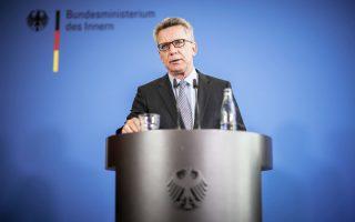 Ο υπουργός Εσωτερικών της Γερμανίας Τόμας ντε Μεζιέρ.