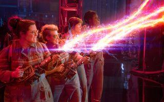 Οι θηλυκοί Ghostbusters: Μ. Μακάρθι, Κ. Μακ Κίνον, Κρ. Γουίγκ, Λ. Τζόουνς.