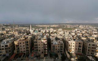 Γενική άποψη του Χαλεπιού, της πολύπαθης πόλης στη Συρία.
