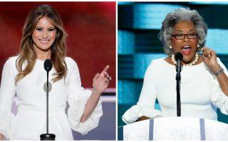 Η Μελάνια Τραμπ δεν είναι η μόνη που αντιγράφει. Η Δημοκρατική βουλευτής Τζόις Μπίτι εμφανίστηκε στο συνέδριο με παρόμοιο φόρεμα.