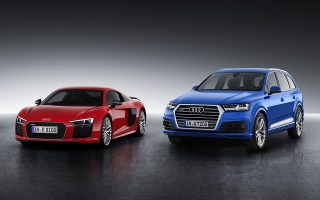 Winner of the Auto Trophy 2015: Audi R8 and Audi Q7