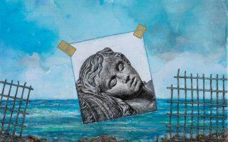 Γιάννης Ψυχοπαίδης: Homage à Delacroix III, 2016. Ακρυλικό σε καμβά.