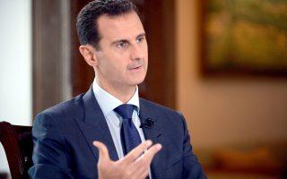 Ο Σύρος πρόεδρος Μπασάρ αλ-Άσαντ κατά τη διάρκεια συνέντευξης για το NBC News.