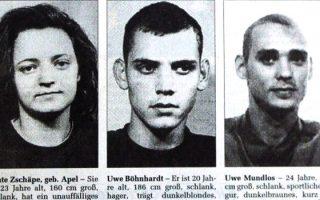 Τα τρία βασικά μέλη της νεοναζιστική οργάνωσης NSU. Η σύλληψη της Μπεάτε Τσέπε (αριστερά) άνοιξε το δρόμο για τη δικαστική διερεύνηση της υπόθεσης.