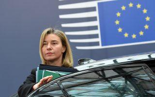 Η επικεφαλής της εξωτερικής πολιτικής της Ευρωπαϊκής Ένωσης, Φεντερίκα Μογκερίνι.