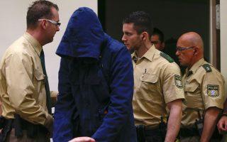 Η φωτογραφία είναι από τη δίκη που διεξάγεται στο Μόναχο.