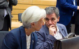 Κριστίν Λαγκάρντ - Ευκλείδης Τσακαλώτος.Το ΔΝΤ ζητεί από την ελληνική κυβέρνηση να μη θιγούν οι μεταρρυθμίσεις που έχουν γίνει, αλλά να γίνουν εκτεταμένες παρεμβάσεις.