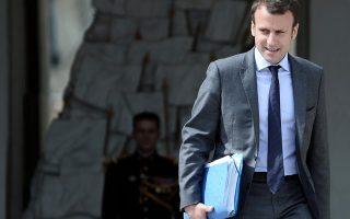 Ο Γάλλος υπουργός Οικονομίας Εμανουέλ Μακρόν