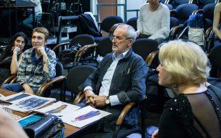 Ο Ρίμας Τούμινας, από το Κελμέ της Λιθουανίας, στις προετοιμασίες του «Οιδίποδα Τυράννου», παράσταση που θα ενώσει Ελληνες και Ρώσους ηθοποιούς.