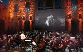 Η Κρατική Ορχήστρα Αθηνών στο Ηρώδειο ερμηνεύει μουσική του Νίνο Ρότα γραμμένη για ταινίες του Φεντερίκο Φελίνι (φωτ.: Ε. Φυλακτού)