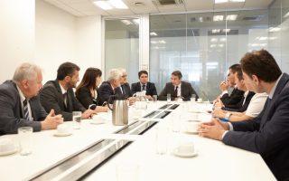 Ο πρόεδρος της ΝΔ Κυριάκος Μητσοτάκης σε συνάντηση με εκπροσώπους των Ενώσεων Δικαστών και Εισαγγελέων, Δικαστικών Λειτουργών ΣτΕ, Διοικητικών Δικαστών, Εισαγγελέων Ελλάδας, Δικαστικών Λειτουργών Ελεγκτικού Συνεδρίου, καθώς και της Ένωσης  Μελών Νομικού Συμβουλίου του Κράτους.