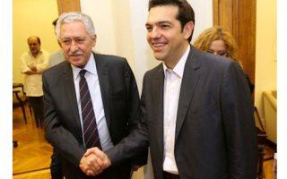 Στα πλαίσια του διαλόγου για τον εκλογικό νόμο συναντήθηκε με τον Φώτη Κουβέλη ο πρωθυπουργός.