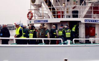 Στιγμιότυπο από την επιστροφή παράνομων μεταναστών στην Τουρκία.
