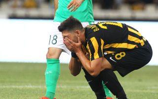 Ο Μπακασέτας ήταν δραστήριος, αλλά μόνο στο α΄ ημίχρονο του χθεσινού ματς.