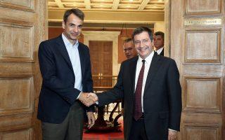 Το θέμα της ασφάλειας ετέθη στο επίκεντρο της συνάντησης του δημάρχου Αθηναίων Γ. Καμίνη με τον πρόεδρο της Ν.Δ. Κυρ. Μητσοτάκη.