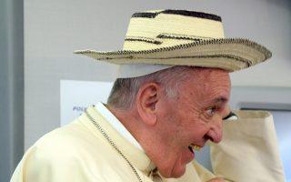 Ο Προκαθήμενος της Ρωμαιοκαθολικής Εκκλησίας Φραγκίσκος.