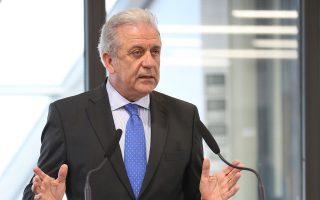 Ο επίτροπος για τη Μετανάστευση, Δημήτρης Αβραμόπουλος.