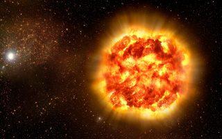 Καλλιτεχνική απεικόνιση υπερκαινοφανούς αστέρα.