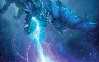 Σκηνή από την επίθεση των μπλε δράκων στους Αριστογέννητους, στον φανταστικό κόσμο του World of Warcraft.
