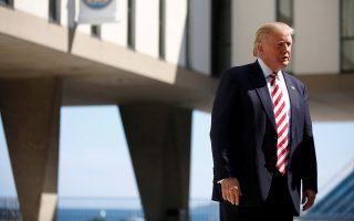 Ο Τραμπ σε επίσκεψή του στο Μιλγουόκι του Ουισκόνσιν.