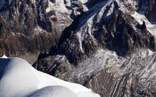 Η ράχη της Εγκουίγ ντι Μιντί, στα 3.842 μέτρα, στο Μον Μπλαν.