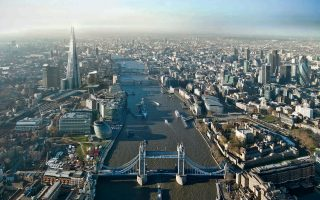 An undated handout image, provided to the media on Friday, Jan. 9, 2009, shows an aerial view of London with the projected image of the proposed 'Shard of Glass' building. Tall structures can work when they are designed by good architects and are worthwhile landmarks. This will surely be true of the U.K.'s tallest building, London Bridge Tower (nicknamed The Shard) in Southwark, by Renzo Piano of Italy. Construction begins this month for completion in 2012. Source: London Bridge Quarter via Bloomberg News EDITOR'S NOTE: NO SALES