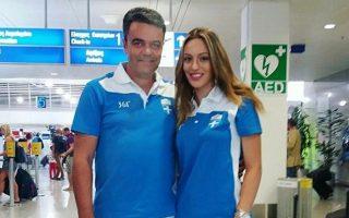 Η Άννα Κορακάκη με τον πατέρα και προπονητή της.