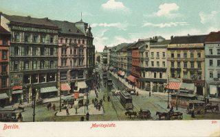 Η Moritzplatz του Βερολίνου σε παλαιά καρτ ποστάλ. Μεγάλοι λογοτεχνικοί ήρωες περιπλανήθηκαν στον μητροπολιτικό λαβύρινθο της πόλης.