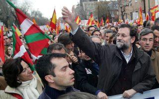 Ο υπηρεσιακός πρωθυπουργός της Ισπανίας και αρχηγός του PP, Μαριάνο Ραχόι.