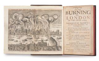Βιβλίο του Samuel Roll με θέμα τη Μεγάλη Φωτιά.