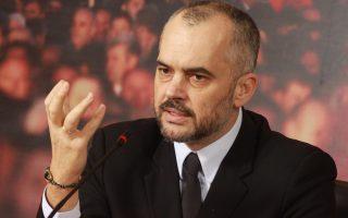 Ο Αλβανός πρωθυπουργός Εντι Ράμα.