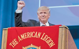 Στο Σινσινάτι της εκλογικά κρίσιμης πολιτείας του Οχάιο, όπου διεξήχθη το εθνικό συνέδριο των οργανώσεων βετεράνων, μίλησε χθες ο Ρεπουμπλικανός υποψήφιος Ντόναλντ Τραμπ.