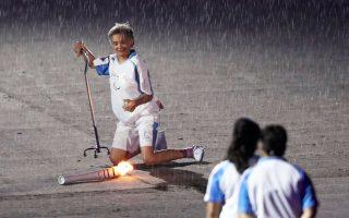 Η Βραζιλιάνα Μάρσια Μαλσάρ συγκίνησε με το ατύχημά της στην τελετή έναρξης των Παραολυμπιακών Αγώνων του Ρίο.