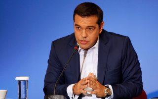 Ο πρωθυπουργός Αλέξης Τσίπρας απαντά σε ερωτήσεις κατά τη διάρκεια της συνέντευξης τύπου στο πλαίσιο της ΔΕΘ, την Κυριακή 11 Σεπτεμβρίου 2016. Ο πρωθυπουργός, χθες  βράδυ με την ομιλία του προς τους εκπροσώπους των παραγωγικών φορέων, εγκαινίασε την 81η Διεθνή Έκθεση Θεσσαλονίκης. ΑΠΕ-ΜΠΕ/ΑΠΕ-ΜΠΕ/ΝΙΚΟΣ ΑΡΒΑΝΙΤΙΔΗΣ
