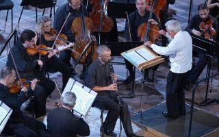 Πατέρας και γιος Ασκενάζι με την Κρατική Ορχήστρα Αθηνών στο Ηρώδειο την 1η Αυγούστου (φωτ. Χ. Ακριβιάδης)